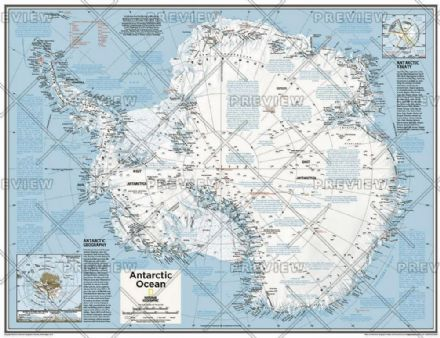 Antarctica Political - Atlas of the World, 10th Edition 2015 by National Geographic